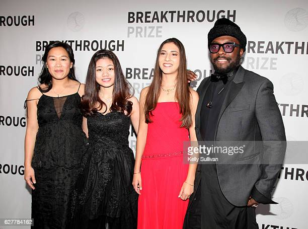 Breakthrough Prize CoFounder Dr Priscilla Chan 2017 Breakthrough Prize Junior Challenge Laureates Deanna See and Antonella Masini and recording...