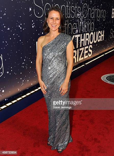 Breakthrough Prize Founder Anne Wojcicki attends the Breakthrough Prize Awards Ceremony Hosted By Seth MacFarlane at NASA Ames Research Center on...