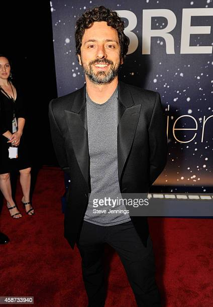 Breakthrough Prize Founder Sergey Brin attends the Breakthrough Prize Awards Ceremony Hosted By Seth MacFarlane at NASA Ames Research Center on...