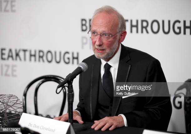 Breakthrough Prize in Life Sciences Laureate Don W Cleveland attends the 2018 Breakthrough Prize at NASA Ames Research Center on December 3 2017 in...