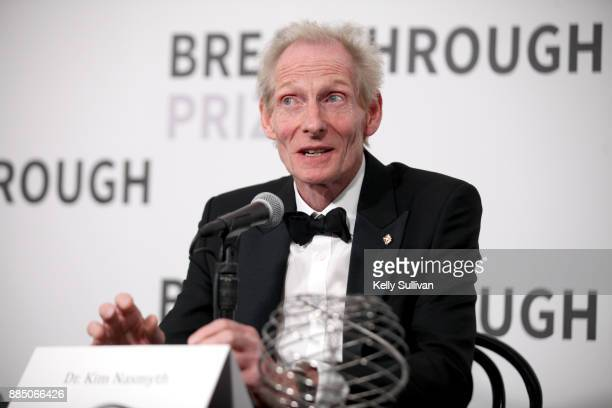 Breakthrough Prize in Life Sciences Laureate Kim Nasmyth attends the 2018 Breakthrough Prize at NASA Ames Research Center on December 3 2017 in...