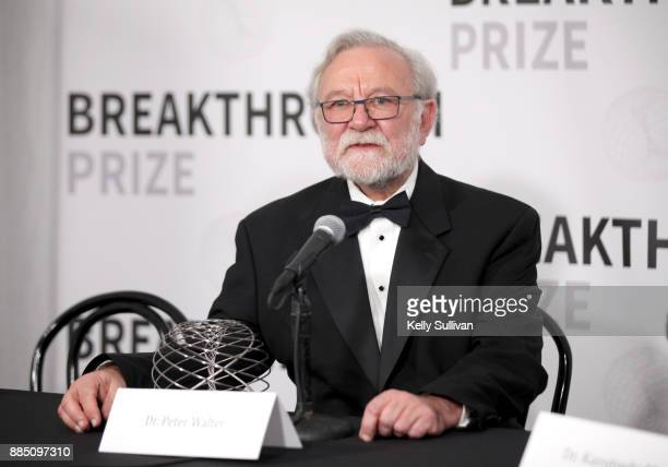 Breakthrough Prize in Life Sciences Laureate Peter Walter attends the 2018 Breakthrough Prize at NASA Ames Research Center on December 3 2017 in...