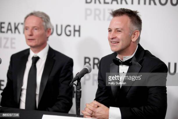 Breakthrough Prize in Mathematics Laureates James McKernan and Christopher Hacon attend the 2018 Breakthrough Prize at NASA Ames Research Center on...