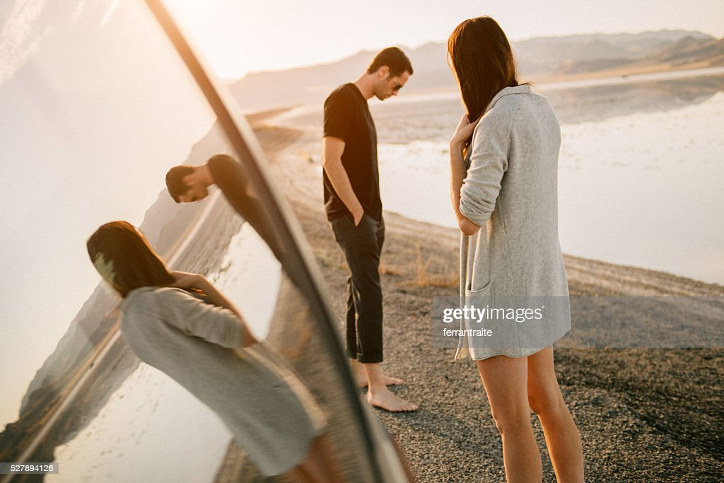 Breakup on vacation : Stock Photo