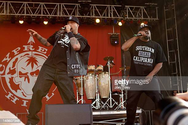 BReal Eric Bobo and Sen Dog of Cypress Hill performs live during the 2012 Rock On The Range festival at Crew Stadium on May 19 2012 in Columbus Ohio