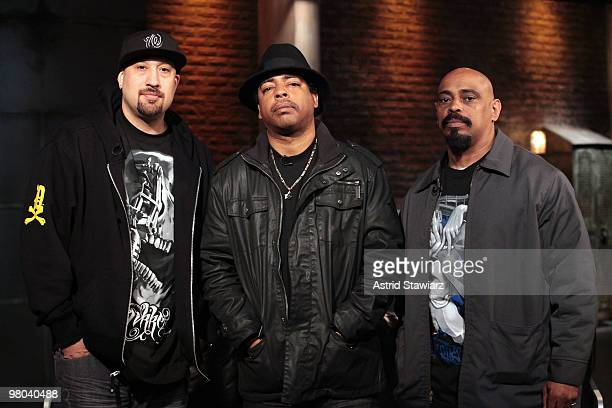 BReal Eric Bobo Correa and Sen Dog of the rap group Cypress Hill visit the fuse Studios on March 25 2010 in New York City