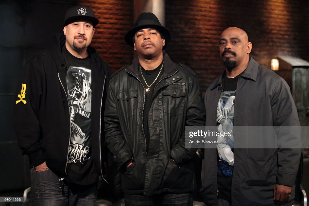 B-Real, Eric 'Bobo' Correa and Sen Dog of the rap group Cypress Hill visit the fuse Studios on March 25, 2010 in New York City.