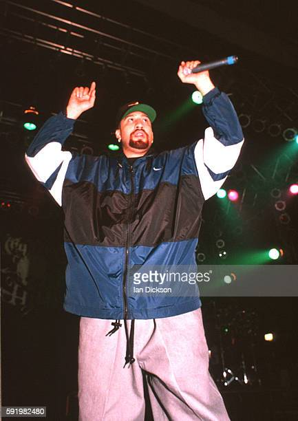 Real of Cypress Hill performing on stage at The Forum, Kentish Town, London 23 April 1996.