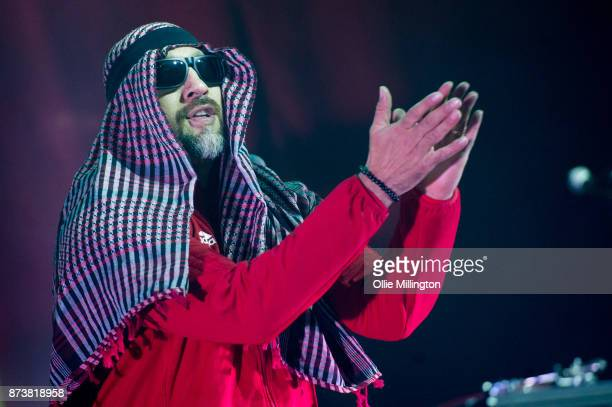 Real of Cypress Hill performs as part of Prophets of Rage live on stage at the O2 Forum Kentish Town on November 13 2017 in London England