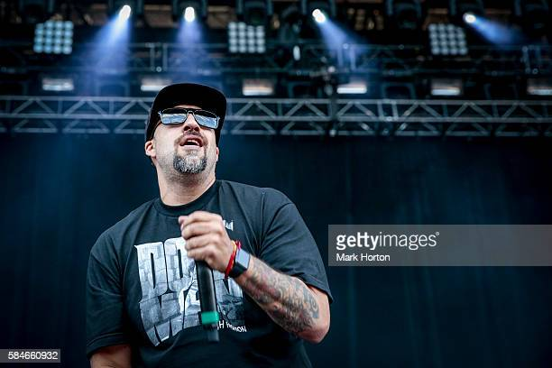 Real performs with Cypress Hill on Day 1 of the Osheaga Music and Art Festival at Parc JeanDrapeau on July 29 2016 in Montreal Canada
