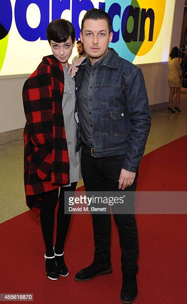Breana McDow and Matt Helders attends a Gala Screening of 20000 Days On Earth at the Barbican Centre on September 17 2014 in London England