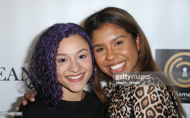 Breana Raquel and Aliyah Moulden attend Breana Raquel 'Beginner's Love' EP Release Party Diabetes Fundraiser held at Paramount Academy Of Music on...