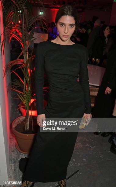Breanna Box attends the LOVE x The Store X party celebrating LOVE issue 21 supported by Perrier Jouet at The Store X on February 18 2019 in London...
