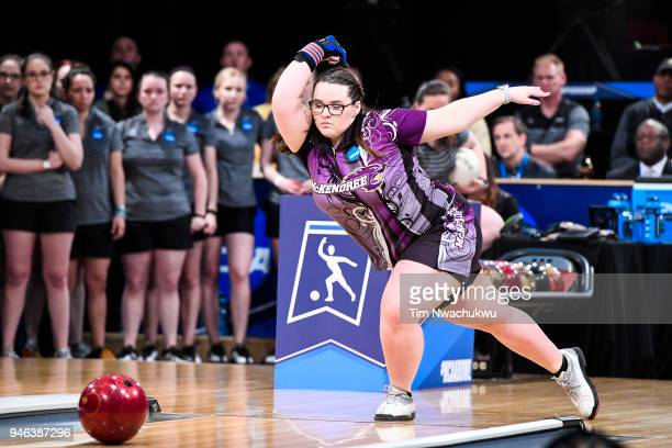 Breanna Clemmer of McKendree University bowls during the Division I Women's Bowling Championship held at Tropicana Lanes on April 14 2018 in Clayton...