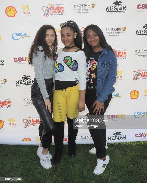 Breanna Raquel Nancy Fifita and Bluani attend City Of Carson's Presentation of Autism Awareness 5K Walk/Runds held at California State University...