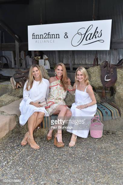 Breanna Schultz Julia Fehrenbach Baldwin and Amanda Hearst attend finn2finn Alliance First Annual Fundraiser Benefiting ReRun Equine Shelter at Dune...