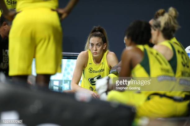 Breanna Stewart of the Seattle Storm during the game against the New York Liberty on July 25, 2020 at Feld Entertainment Center in Palmetto, Florida....
