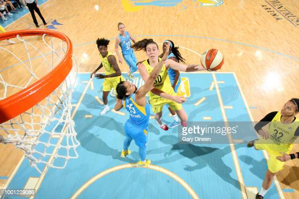 Breanna Stewart of the Seattle Storm goes to the basket against the Chicago Sky on July 18 2018 at the Wintrust Arena in Chicago Illinois NOTE TO...