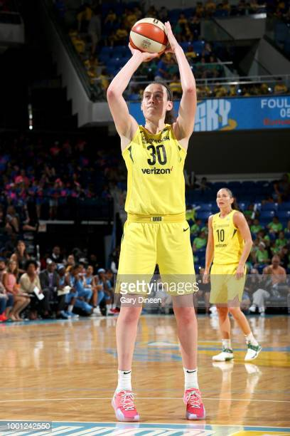 Breanna Stewart of the Seattle Storm shoots a free throw against the Chicago Sky on July 18 2018 at the Wintrust Arena in Chicago Illinois NOTE TO...