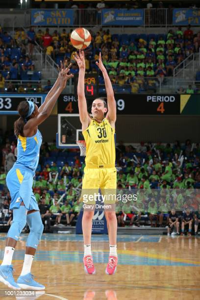 Breanna Stewart of the Seattle Storm shoots the ball against the Chicago Sky on July 18 2018 at the Wintrust Arena in Chicago Illinois NOTE TO USER...