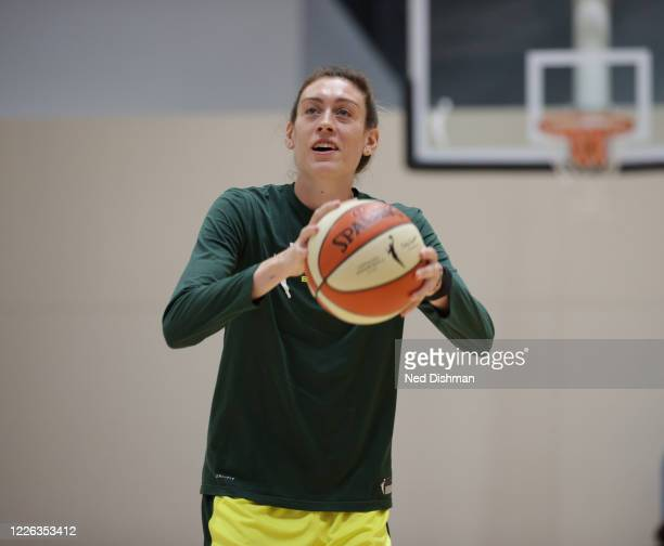 Breanna Stewart of the Seattle Storm shoots the ball during practice on July 11, 2020 at IMG Academy in Bradenton, Florida. NOTE TO USER: User...