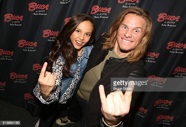 Breanna Yde and Tony Cavalero promote thier New Nickelodeon TV Series 'School Of Rock' at Buca di Beppo Times Square on March 14 2016 in New York City