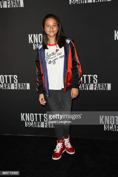 Breanna Yde attends the Knott's Scary Farm and Instagram's Celebrity Night at Knott's Berry Farm on September 29 2017 in Buena Park California