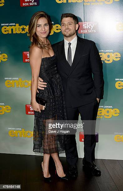 Breanne Racano and Jerry Ferrara attend the Entourage After Party at the Rumpus Room in the Mondrian London Hotel on June 9 2015 in London England