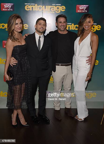 Breanne Racano Jerry Farrara Stephen Levinson and Guest attends the after party following the European Premiere of Entourage at the Rumpus Room in...