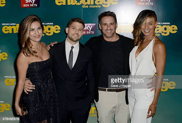 Breanne Racano Jerry Ferrara Stephen Levinson and guest attend the Entourage After Party at the Rumpus Room in the Mondrian London Hotel on June 9...