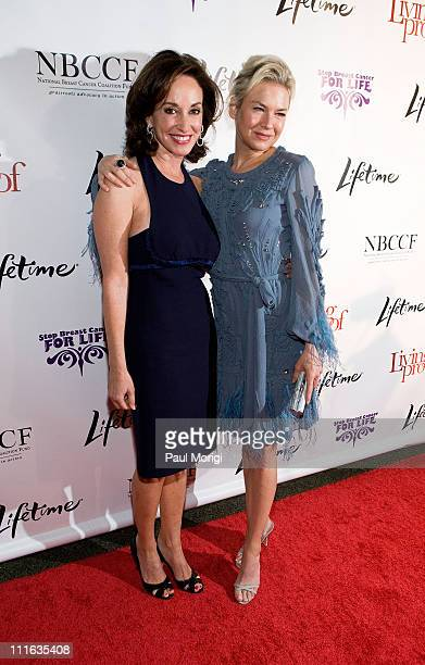 Breast cancer activist and philanthropist Lilly Tartikoff and actress Renee Zellweger attend the Lifetime and NBCC screening of the Lifetime Original...