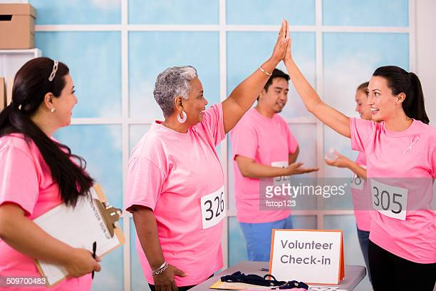 Breast Cancer Awareness volunteers sign up for local event, race.