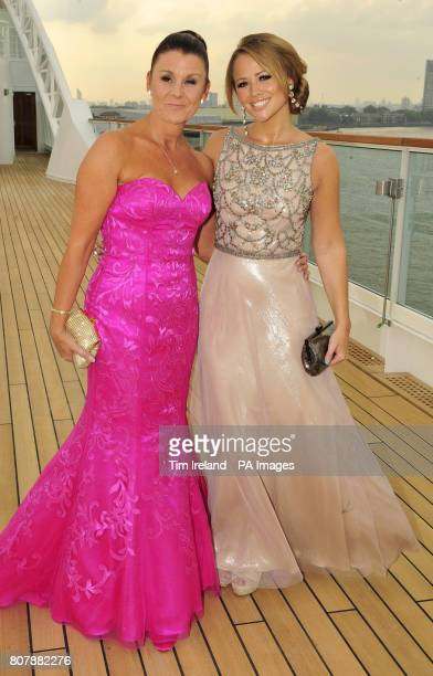 Breast Cancer Haven ambassador and popstar Kimberley Walsh with her friend and dance instructor Deana Morgan who survived breast cancer on board the...
