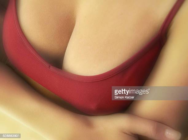 Breast in a red top