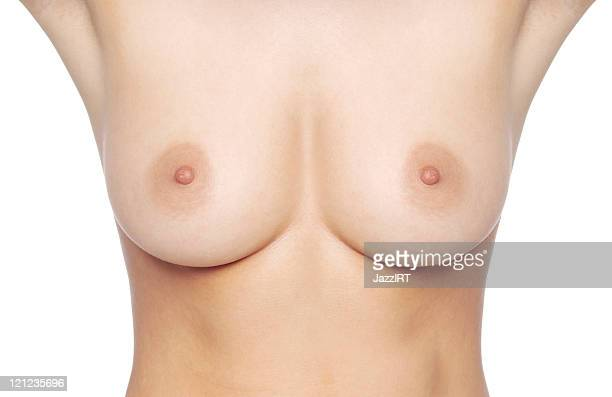 Breast of women (isolated with clipping path over white background)