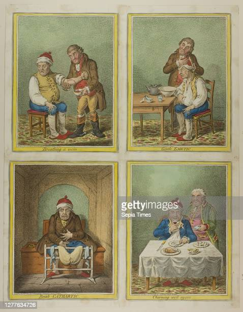 Breathing a Vein published January 28 James Gillray published by Hannah Humphrey England Handcolored etching on paper 225 × 195 mm 262 × 205 mm 275 ×...
