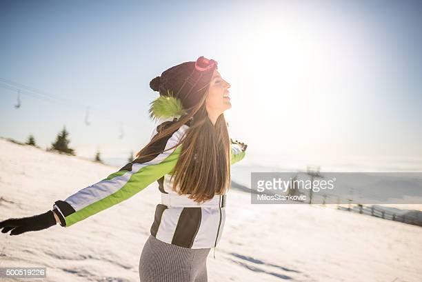 Respirar aire fresco en invierno