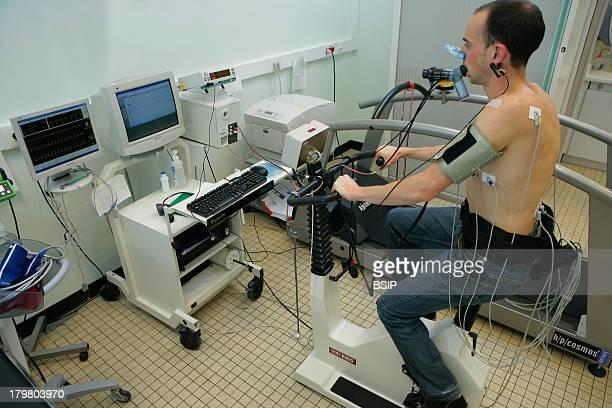 Breathing Potency Test Caen hospital in France Pulmonary function testing exercise test