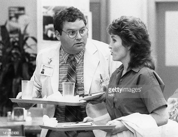 """Breathless"""" Episode 5 -- Pictured: Stephen Furst as Doctor Elliot Axelrod, Sagan Lewis as Doctor Jacqueline Wade -- Photo by: Trey Hamilton/NBCU..."""