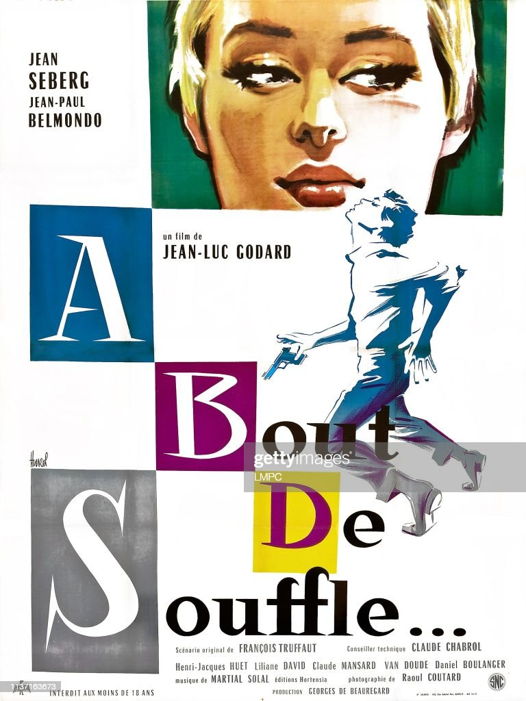 Breathless Poster French Poster Jean Seberg Jean Paul Belmondo News Photo Getty Images