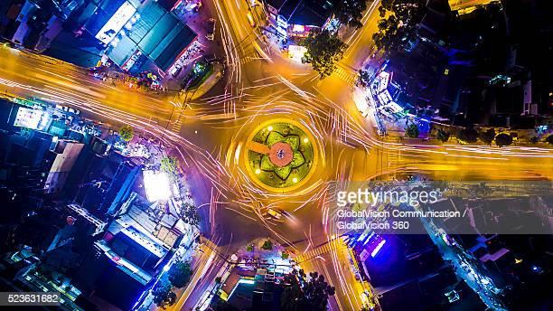 Breathtaking View above Traffic in Saigon, Vietnam