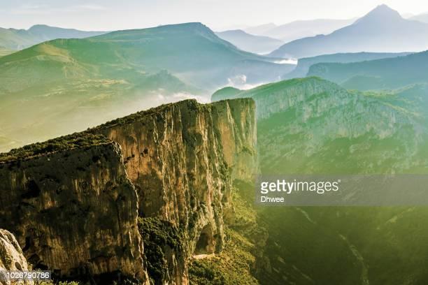 breathtaking view on the top of gorge du verdon, france - gorges du verdon photos et images de collection