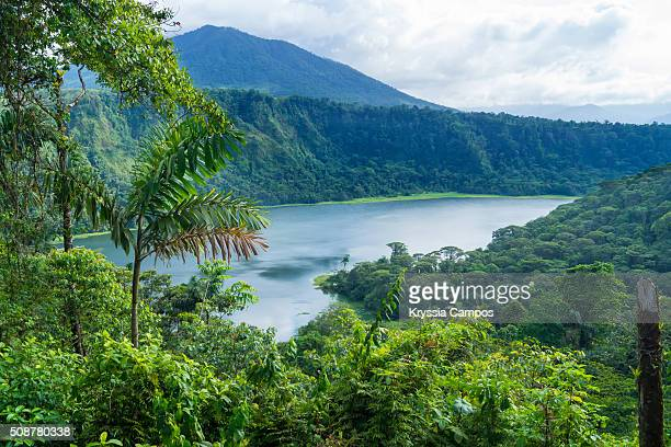 Breathtaking view to lake at the tropical rainforest, Costa Rica