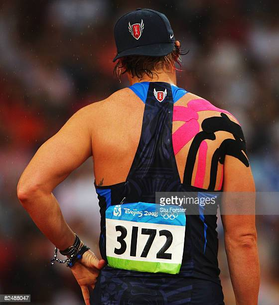 Breaux Greer of the United States competes in the Men's Javelin Qualifying Round held at the National Stadium during Day 13 of the Beijing 2008...