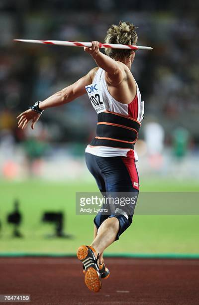 Breaux Greer of the United States of America competes during the Men's Javelin Final on day nine of the 11th IAAF World Athletics Championships on...