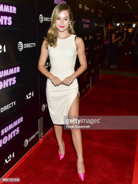 Brec Bassinger arrives at the screening of A24's 'Hot Summer Nights' at Pacific Theatres at The Grove on July 11 2018 in Los Angeles California