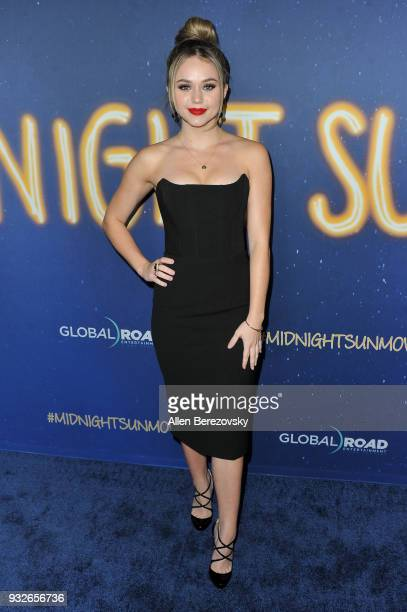 Brec Bassinger attends the Global Road Entertainment's World Premiere of Midnight Sun at ArcLight Hollywood on March 15 2018 in Hollywood California