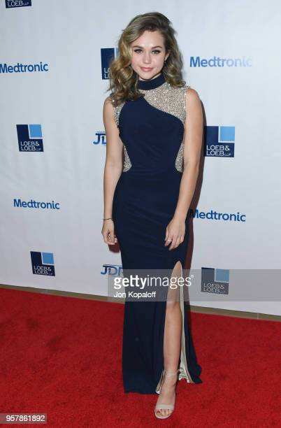 Brec Bassinger attends the Juvenile Diabetes Research Foundation's 15th Annual Imagine Gala at The Beverly Hilton Hotel on May 12 2018 in Beverly...