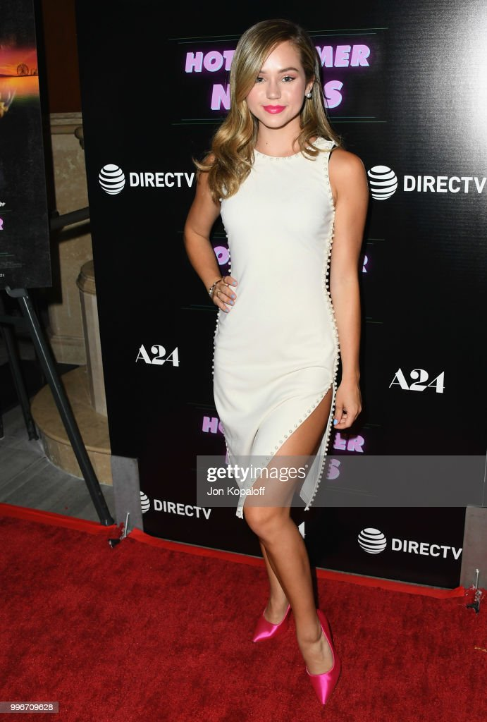 Brec Bassinger attends the Los Angeles special screening of 'Hot Summer Nights' at Pacific Theatres at The Grove on July 11, 2018 in Los Angeles, California.