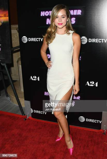 Brec Bassinger attends the Los Angeles special screening of Hot Summer Nights at Pacific Theatres at The Grove on July 11 2018 in Los Angeles...